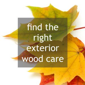 find the right exterior woodcare